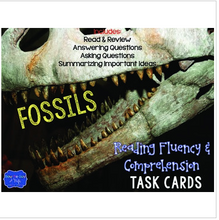 Load image into Gallery viewer, Fossils Task Cards for Fluency and Comprehension