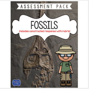 Fossils Test with Constructed Response Assessment