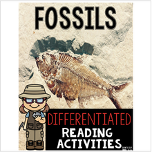 Load image into Gallery viewer, Fossils Differentiated Reading Passages & Questions
