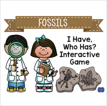 "Load image into Gallery viewer, Fossils Interactive Vocabulary Game ""I Have, Who Has?"" Cards"