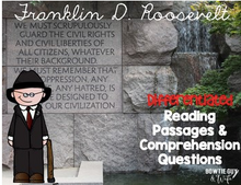 Load image into Gallery viewer, Franklin D. Roosevelt Differentiated Reading Passages