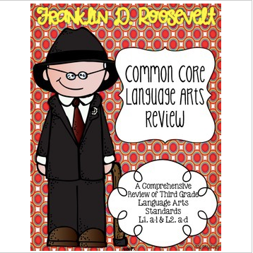 Franklin D. Roosevelt's Language Review {Common Core Language Arts Practice}