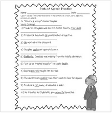 Load image into Gallery viewer, Frederick Douglass Language Review {Common Core Language Arts Practice}