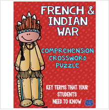 Load image into Gallery viewer, French and Indian War Crossword