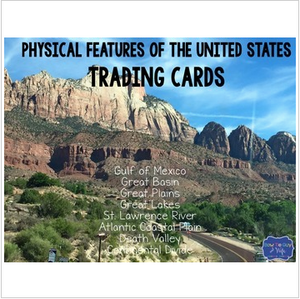 Geographic Features Trading Cards