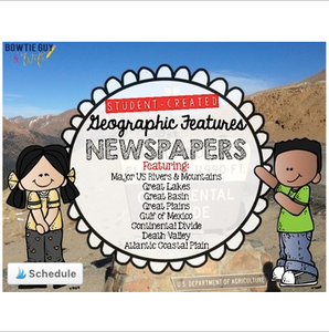 Geographic Features, Physical Features, US Rivers and Mountains Newspapers