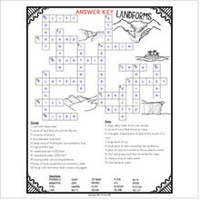 Load image into Gallery viewer, Geographic Landforms Crossword