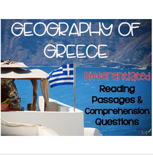 Load image into Gallery viewer, Geography of Greece: Greek Geography Overview
