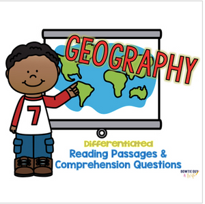 Geography, Maps, & Globes General Latitude and Longitude Differentiated Passages