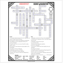 Load image into Gallery viewer, George Washington Crossword