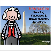 Load image into Gallery viewer, George Washington Differentiated Reading Passages & Comprehension Questions