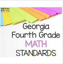 Load image into Gallery viewer, Georgia Fourth Grade Math GSE Standards Posters Bundle