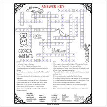 Load image into Gallery viewer, Georgia Habitats Crossword
