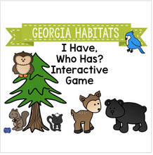 "Load image into Gallery viewer, Georgia Habitats Interactive Vocabulary Game ""I Have, Who Has?"" Cards"