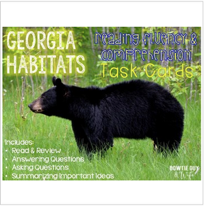 Georgia Habitats Task Cards for Fluency and Comprehension
