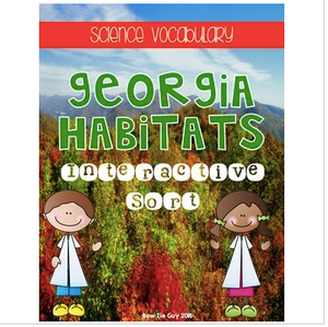 Georgia Habitats {Science Interactive Vocabulary Sort}