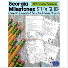 Load image into Gallery viewer, Georgia Milestones Science Study Guide Fourth Grade