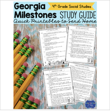 Load image into Gallery viewer, Georgia Milestones Social Studies Study Guide Fourth Grade