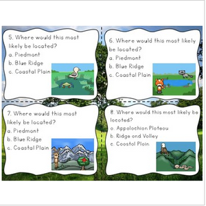 Georgia Region Plants and Animals Habitats Task Cards (new GSE compatible)