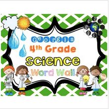 Load image into Gallery viewer, Georgia Fourth Grade Science Word Wall
