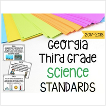 Load image into Gallery viewer, Georgia Science Standards for Third Grade Newly Implemented & Revised GSE
