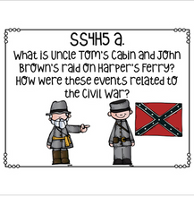 Load image into Gallery viewer, Georgia Social Studies Essential Questions for Fourth Grade Newly Implemented