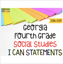 Load image into Gallery viewer, Georgia Social Studies I Can Statements for Fourth Grade Newly Implemented
