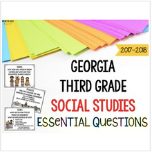 Load image into Gallery viewer, Georgia Social Studies Standards for Third Grade GSE Essential Questions