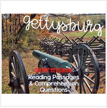 Load image into Gallery viewer, Gettysburg Reading Passages: Leveled Texts for SS Integration