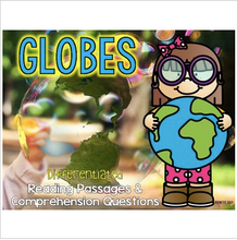 Load image into Gallery viewer, Globes Differentiated Nonfiction Reading Passages