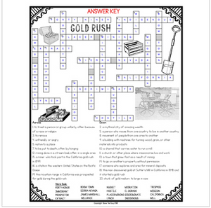 Gold Rush Crossword 1