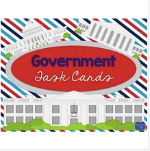 Load image into Gallery viewer, Government Task Cards