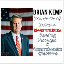 Load image into Gallery viewer, Governor Brian Kemp of Georgia Differentiated Reading Passages & Questions