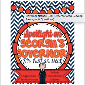 Governor Nathan Deal {Differentiated Reading Passages & Questions}