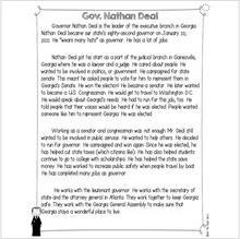 Load image into Gallery viewer, Governor Nathan Deal {Differentiated Reading Passages & Questions}