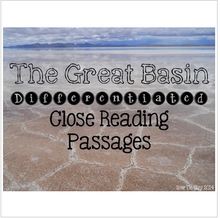 Load image into Gallery viewer, Great Basin {Differentiated Close Reading Passages & Questions}