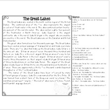 Load image into Gallery viewer, Great Lakes {Differentiated Close Reading Passages & Questions}