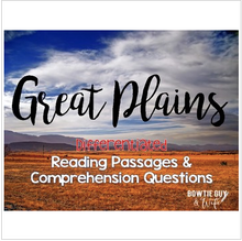 Load image into Gallery viewer, Great Plains Differentiated Close Reading Passages & Questions
