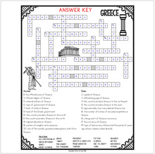 Load image into Gallery viewer, Greece Crossword