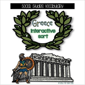 Greece {Interactive Vocabulary Sort}