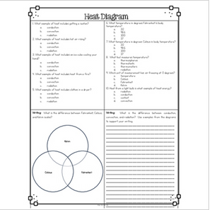 Heat Diagrams & Comprehension Questions