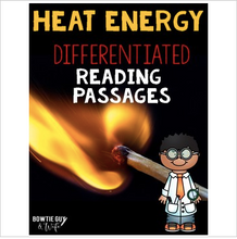 Load image into Gallery viewer, Heat Differentiated Reading Passages & Questions
