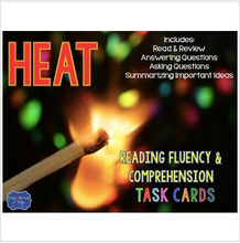 Load image into Gallery viewer, Heat Task Cards for Fluency and Comprehension