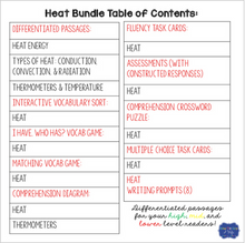 Load image into Gallery viewer, Heat Unit: Games, Activities, & Assessments bundle