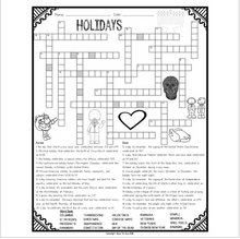 Load image into Gallery viewer, Holidays Crossword