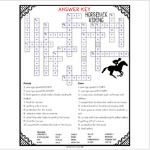 Load image into Gallery viewer, Horseback Riding Comprehension Crossword