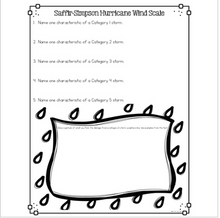 Load image into Gallery viewer, Hurricane Wind Scale: Saffir Simpson Differentiated Nonfiction Reading Passages