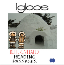 Load image into Gallery viewer, Igloos Differentiated Reading Passages & Questions