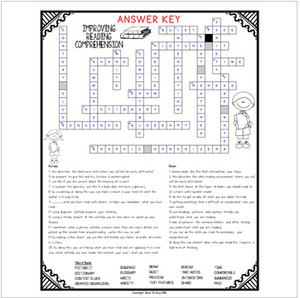 Improving Reading Comprehension Crossword