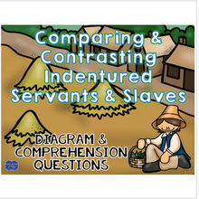 Load image into Gallery viewer, Indentured Servants & Slaves Diagram & Comprehension Questions